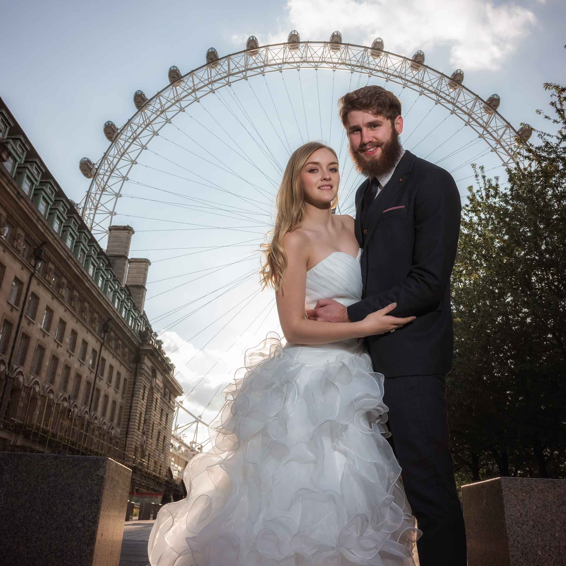 After the wedding photo shoot in London