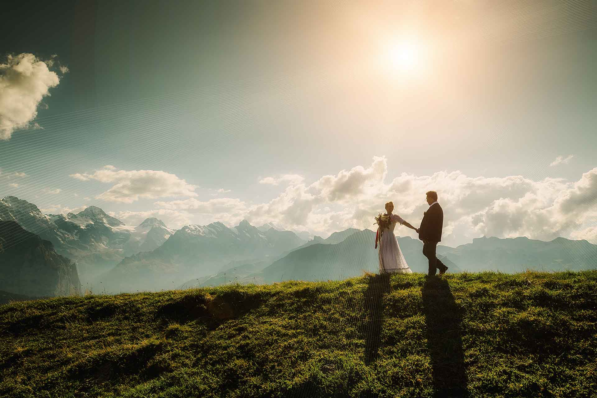 After Wedding Photo Shoot in Swiss Alps