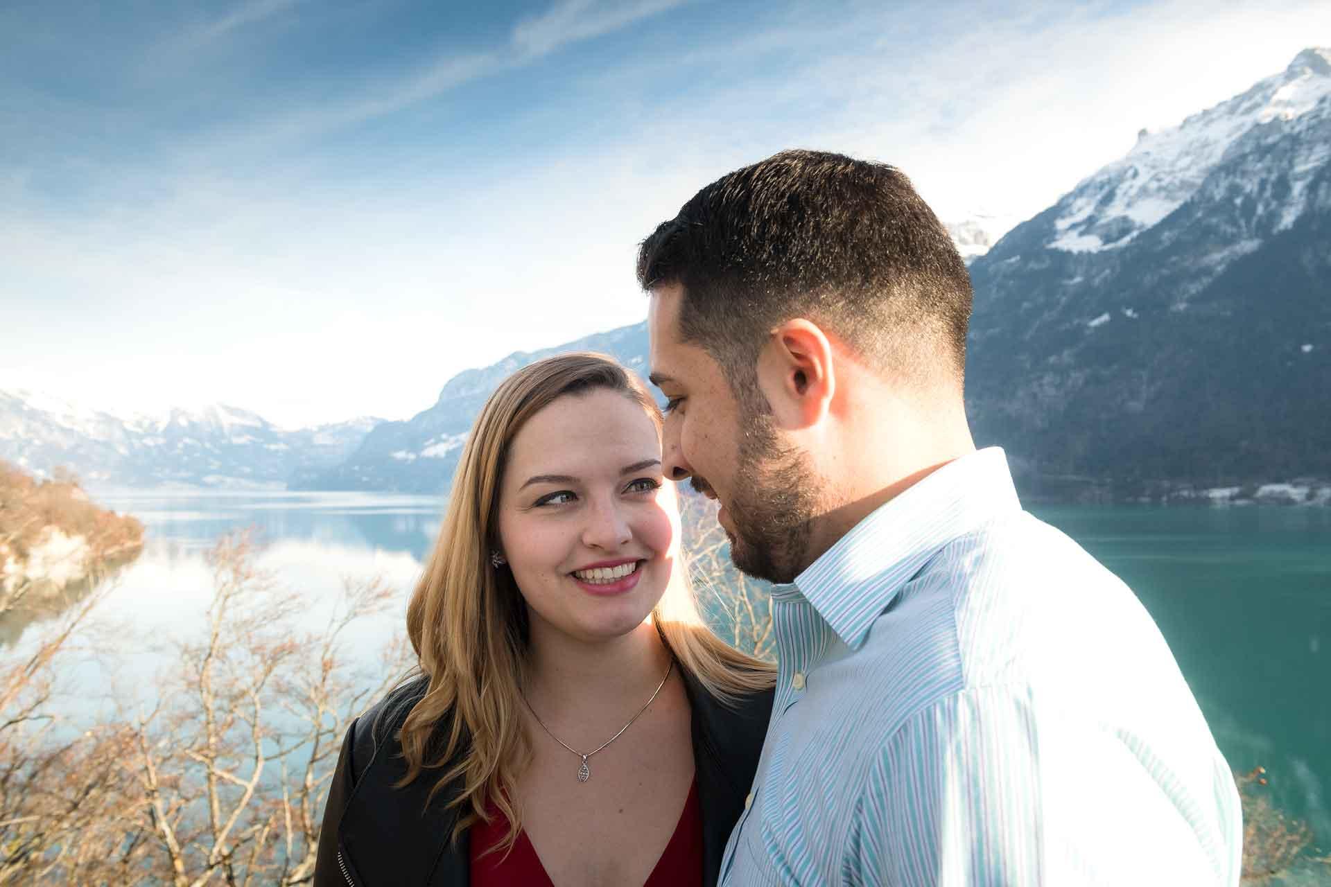 Surprise engagement near Interlaken