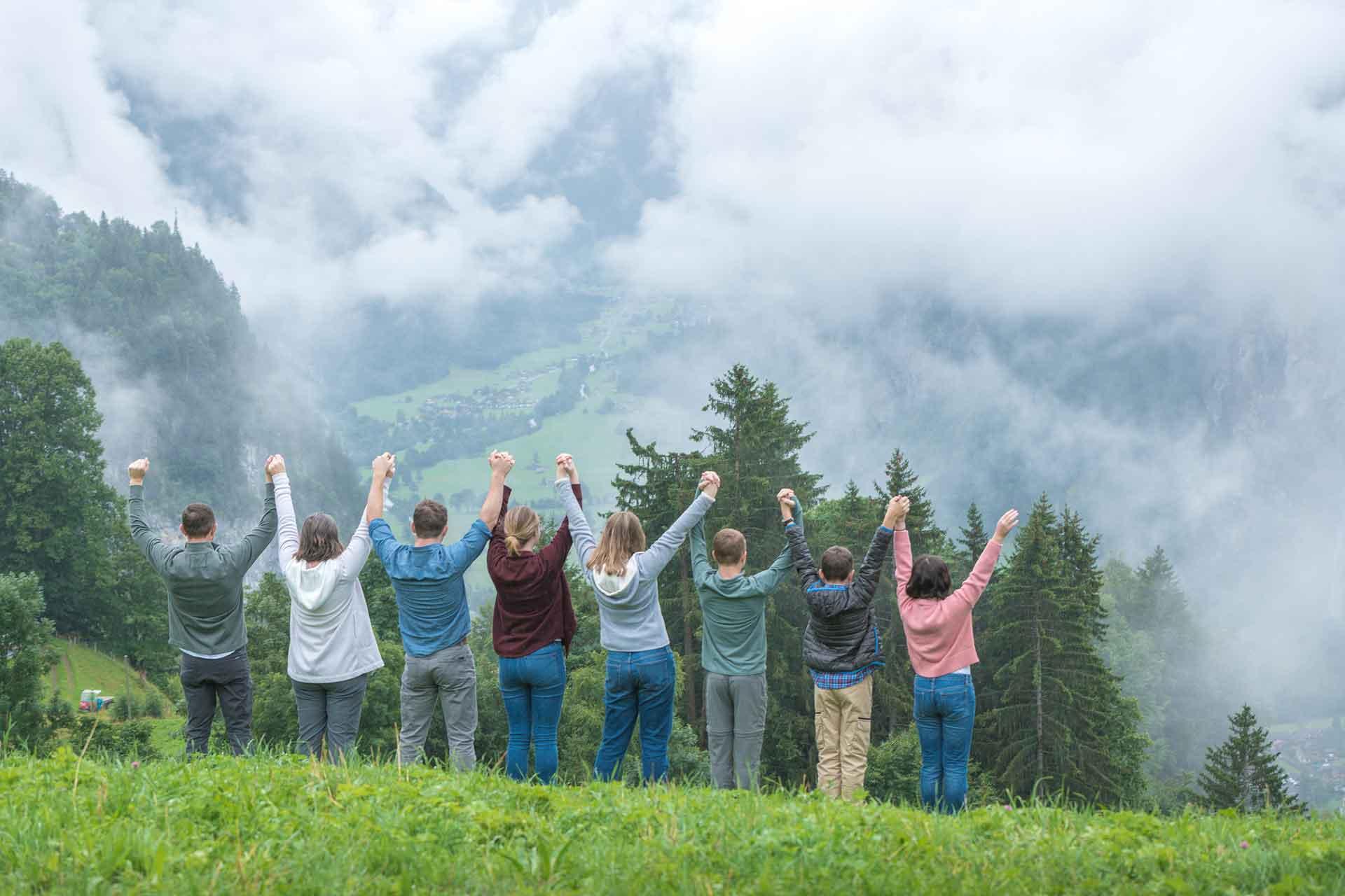 Family photo shoot in Wengen Switzerland